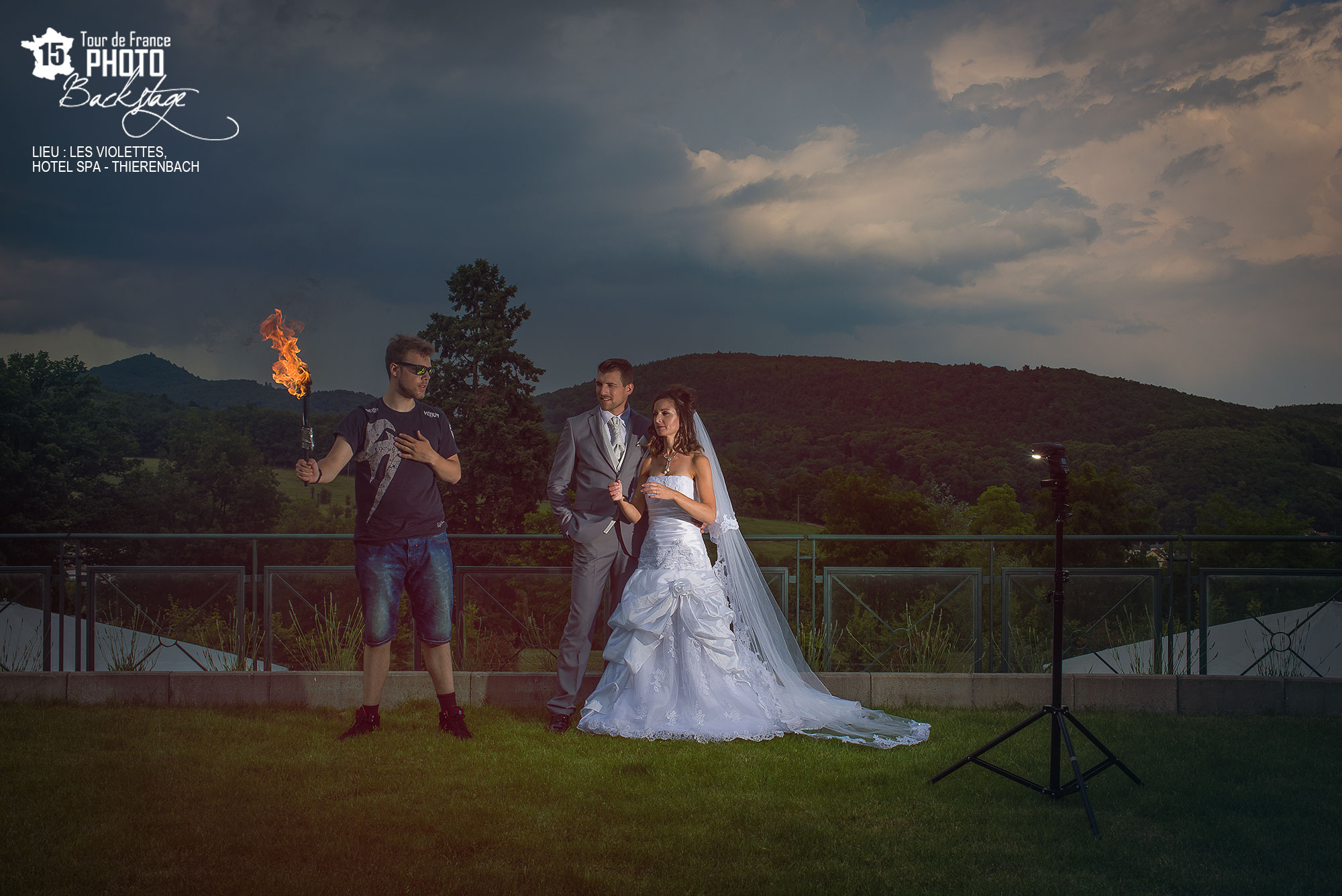 Backstage photo de feu mariage