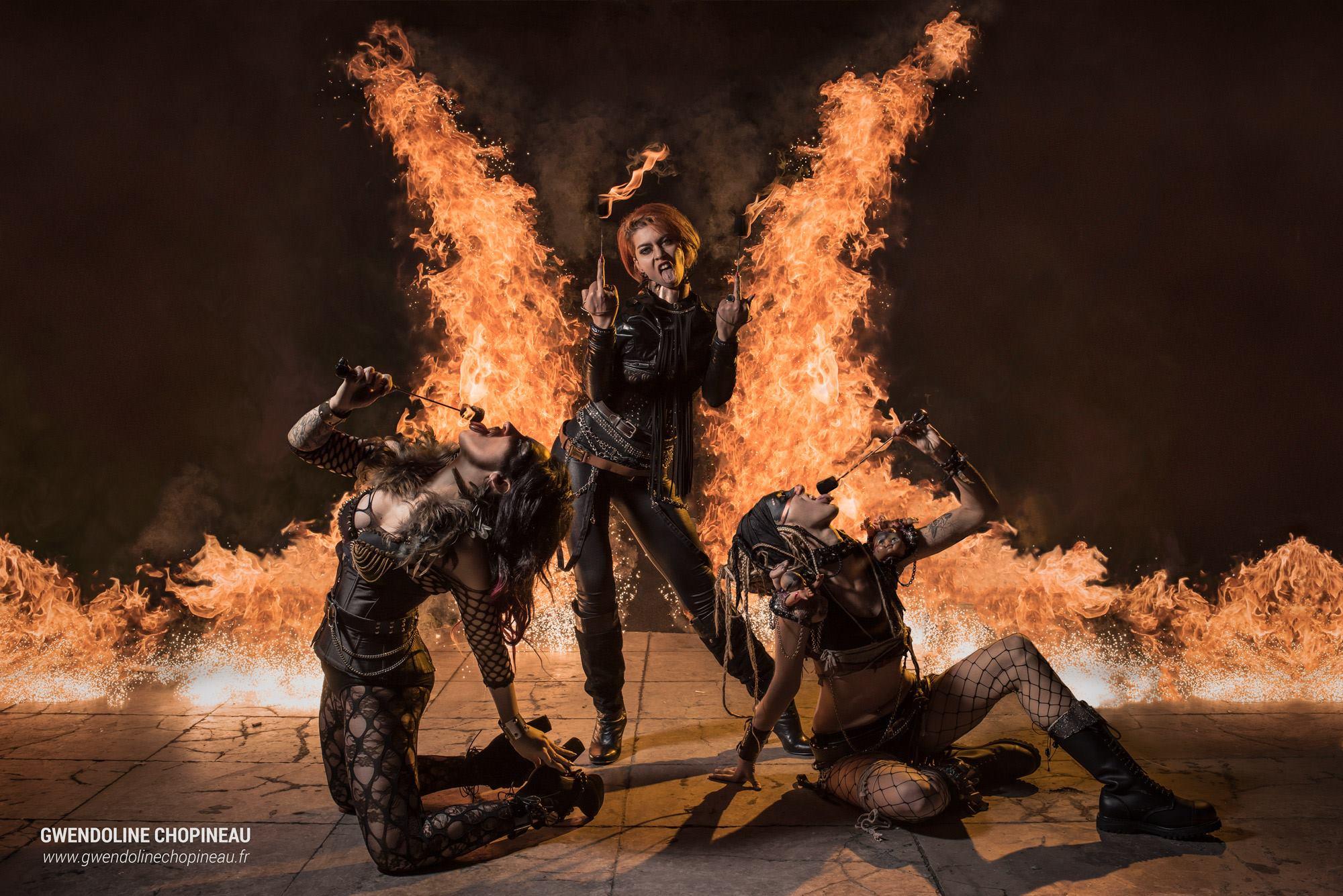 Effets pyrotechniques photographie Quarante Quatre