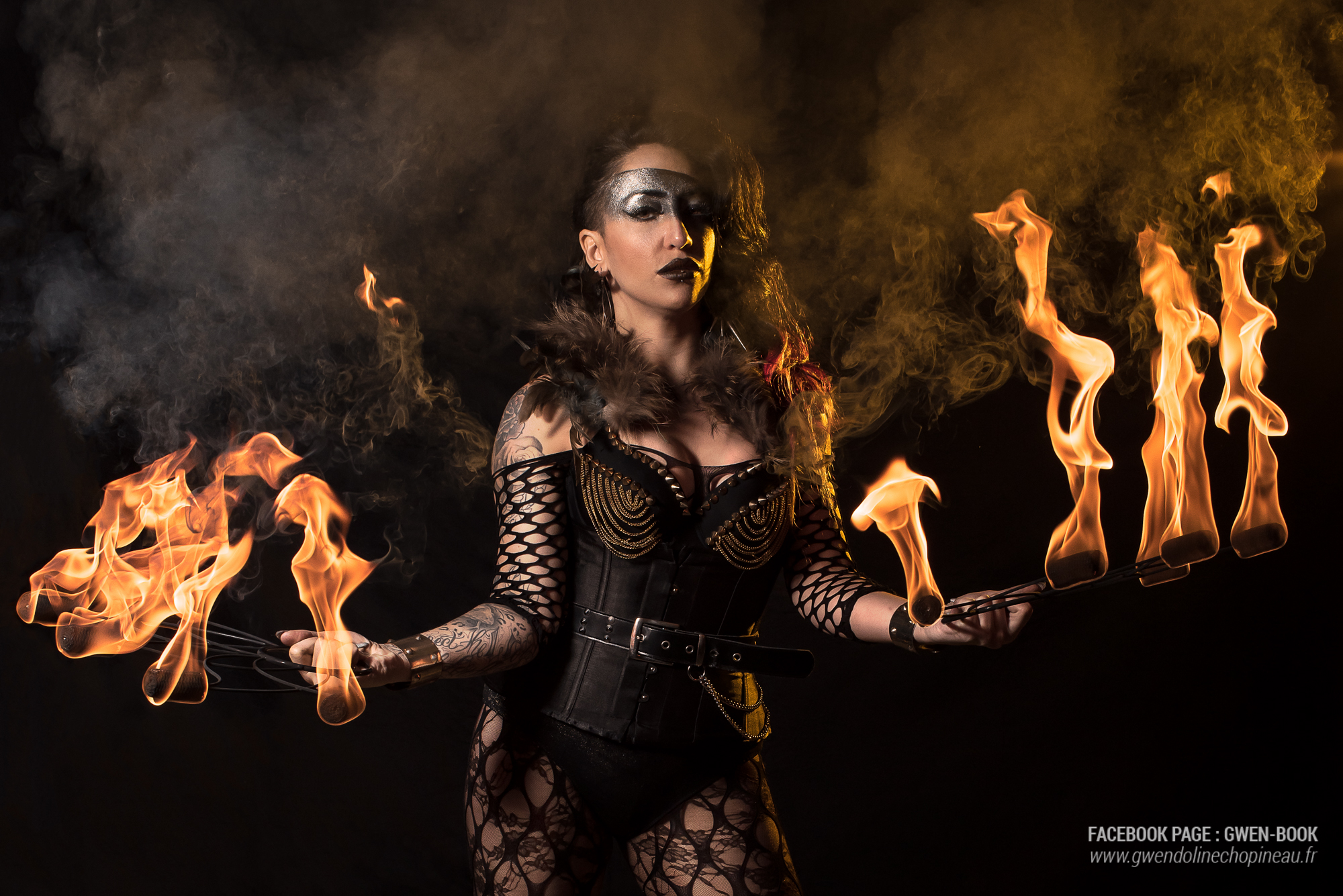 Photo portrait feu - Quarante Quatre